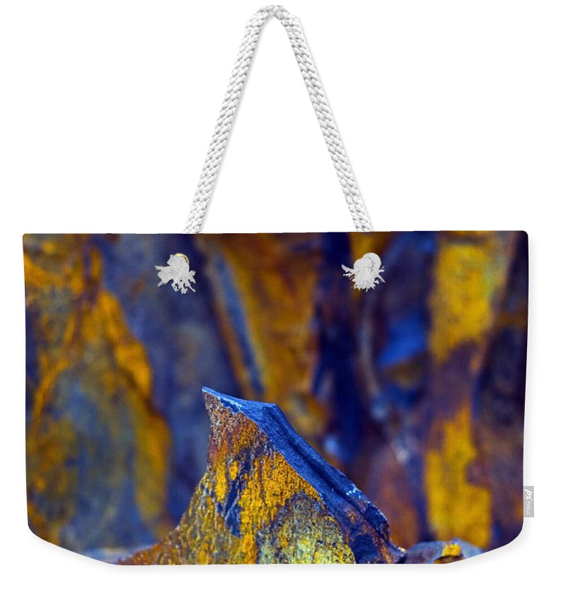 Texture Weekender Tote Bag featuring the photograph First Cut Is The Deepest by Skip Hunt