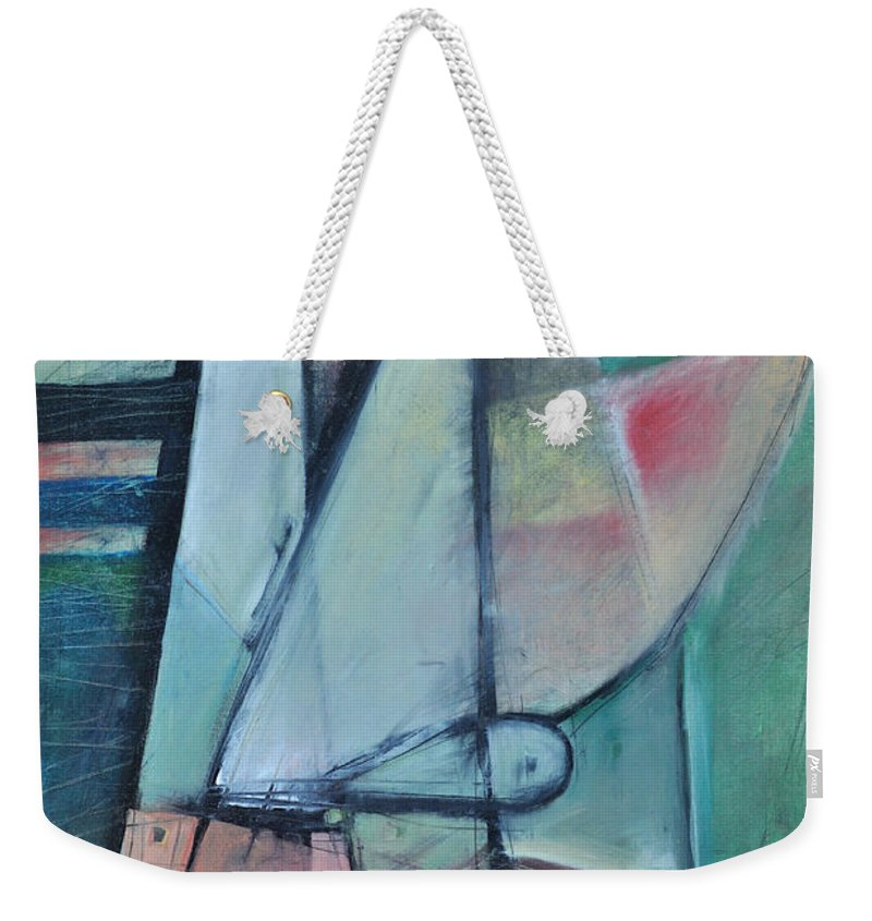 Face Weekender Tote Bag featuring the painting First Day North Of The Tension Line by Tim Nyberg