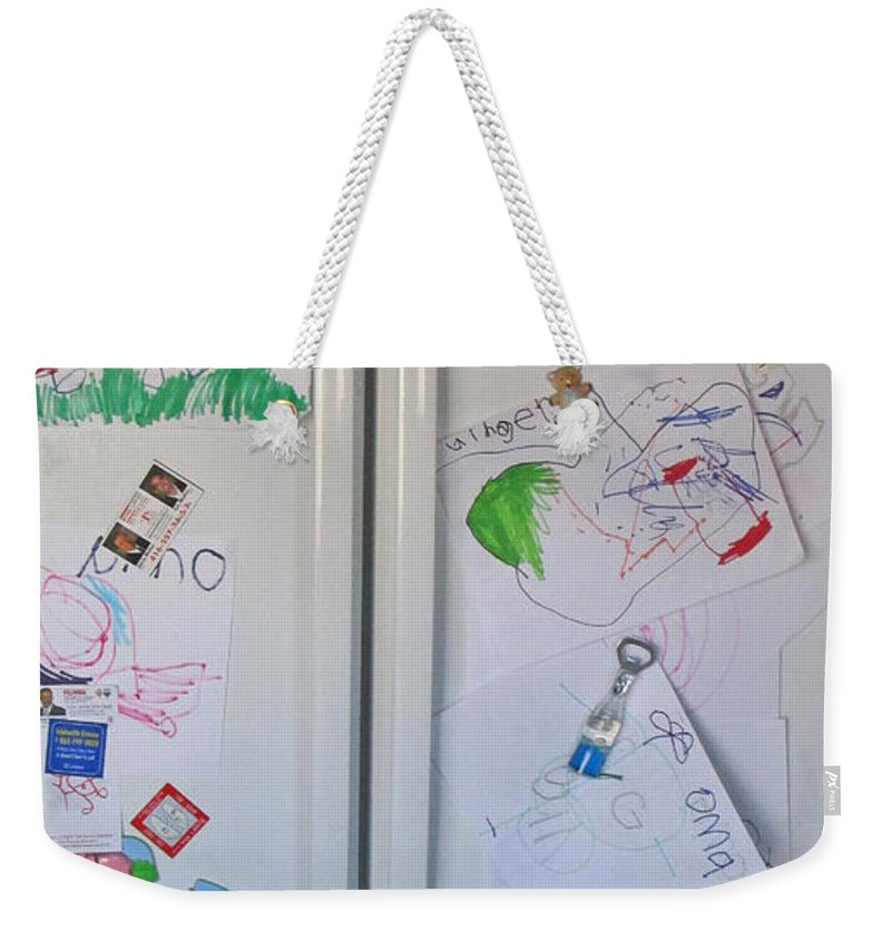 Refrigerator Weekender Tote Bag featuring the photograph First Juried Show by Ian MacDonald