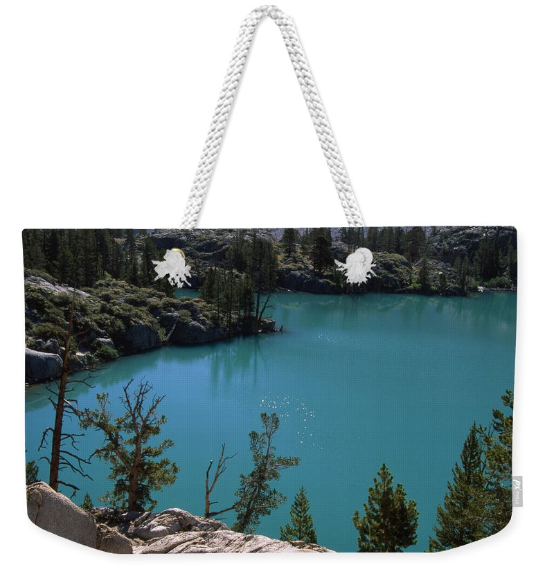 First Lake Weekender Tote Bag featuring the photograph First Lake by Soli Deo Gloria Wilderness And Wildlife Photography