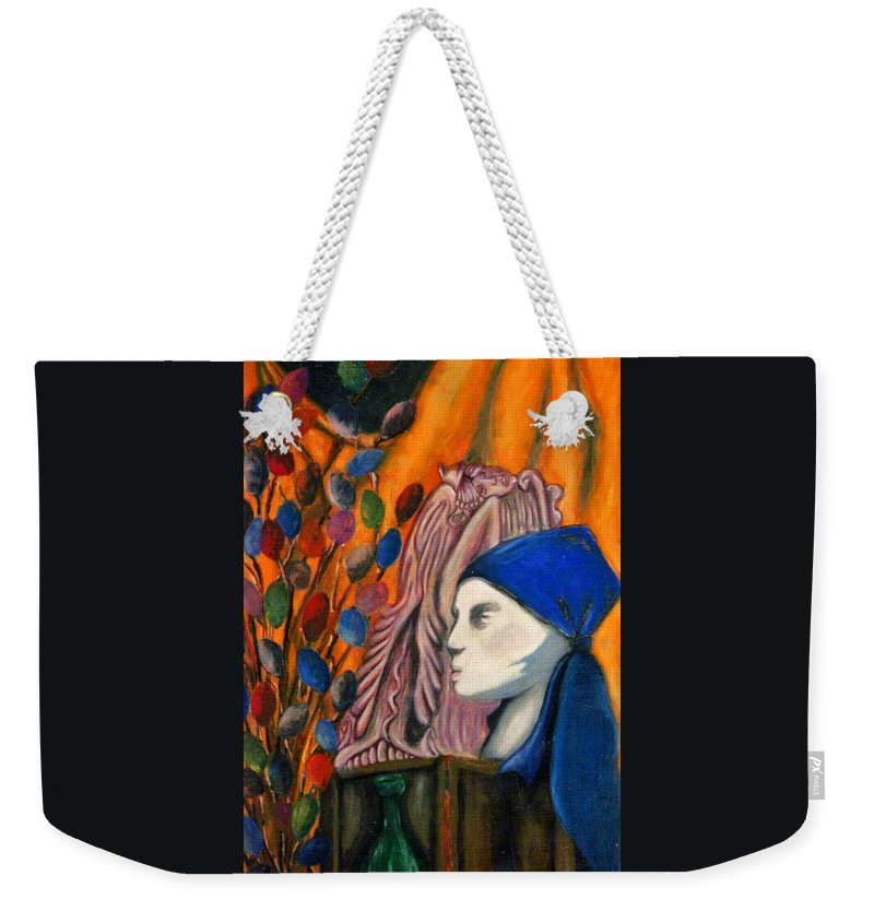 Mannequin Weekender Tote Bag featuring the pastel First Oil Pastel by Jean Haynes
