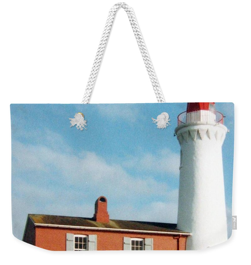 Fisgard Lighthouse Weekender Tote Bag featuring the photograph Fisgard Lighthouse by Will Borden