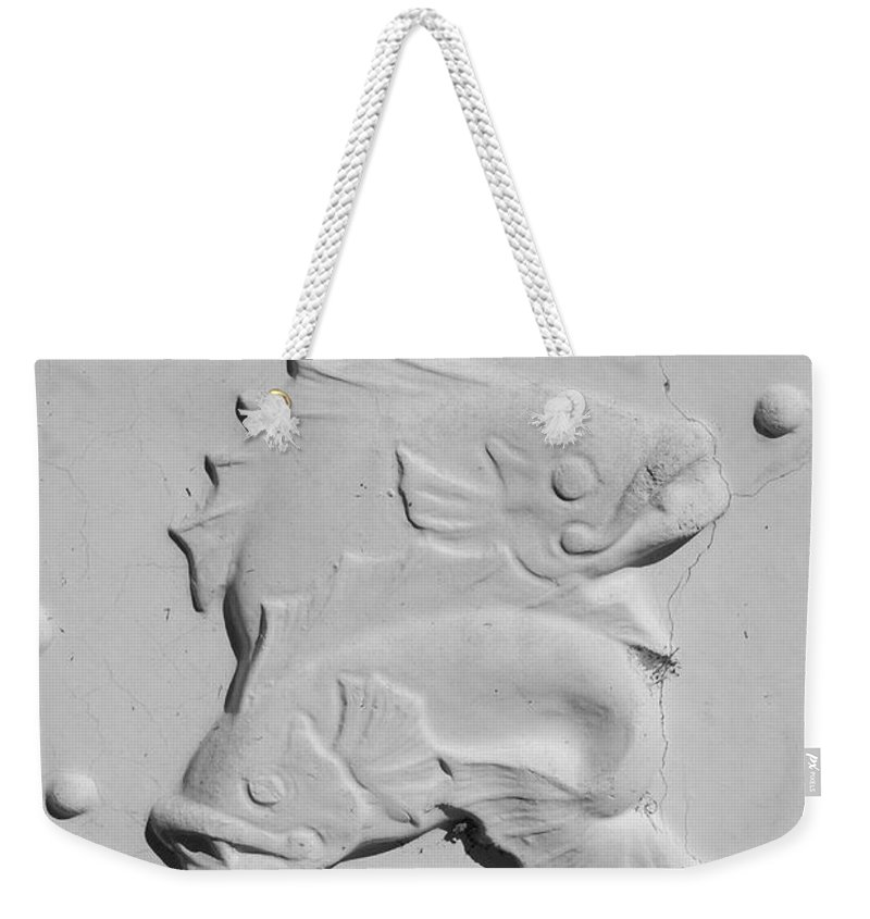 Black And White Weekender Tote Bag featuring the photograph Fish And Bubbles by Rob Hans