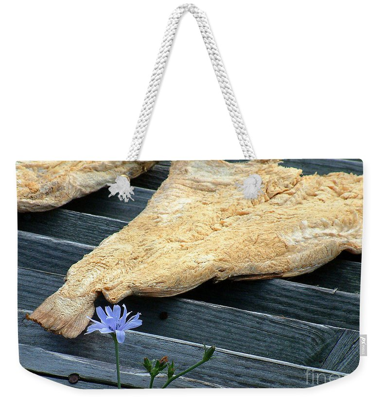 Fish Weekender Tote Bag featuring the photograph Fish And Flowers by RC DeWinter