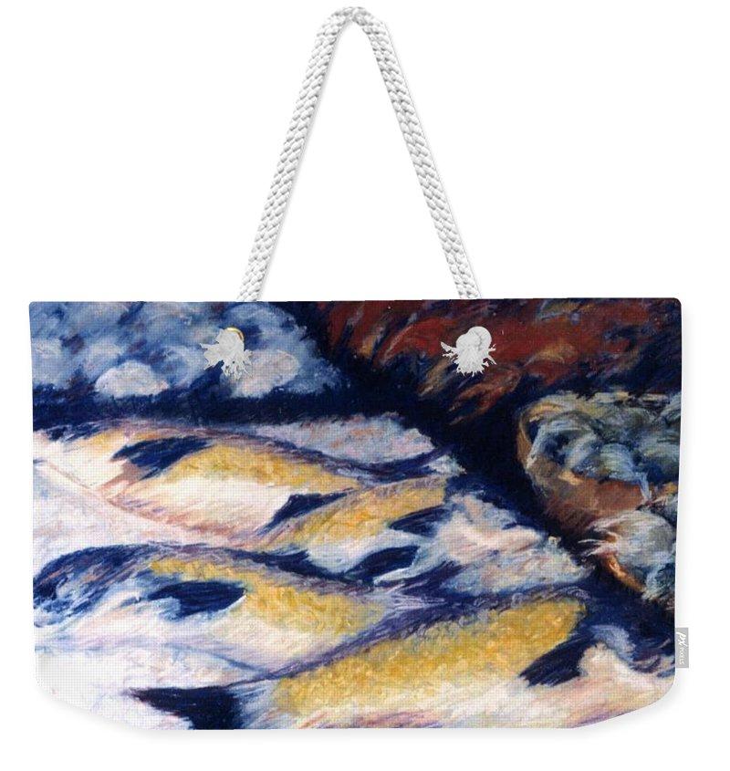 Fish Shellfish Market Weekender Tote Bag featuring the pastel Fish And Shellfish by Pat Snook