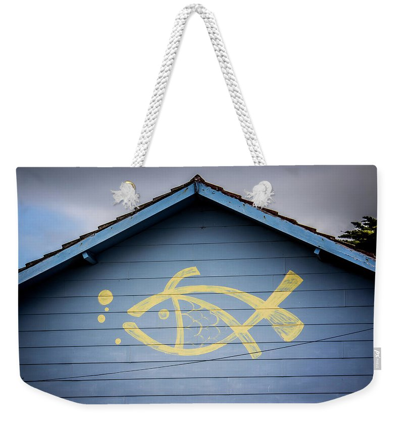 Fish Weekender Tote Bag featuring the photograph Fish House by Perry Webster
