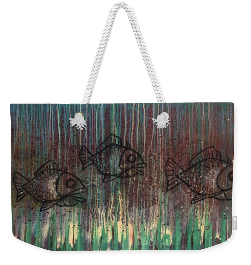 Fish Weekender Tote Bag featuring the painting Fish by Kelly Jade King