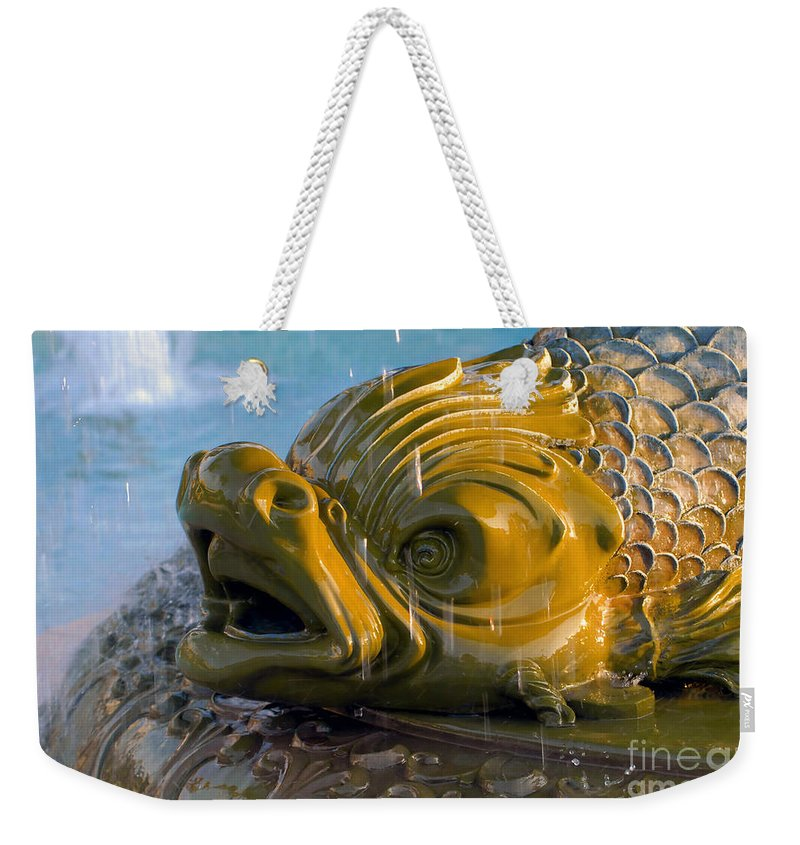 Fish Weekender Tote Bag featuring the photograph Fish Out Of Water by David Lee Thompson