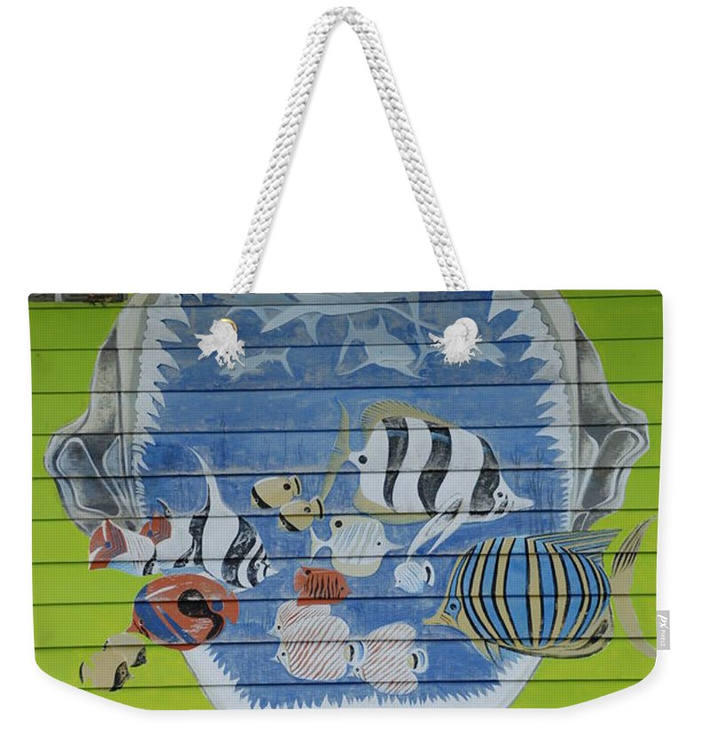 Teeth Weekender Tote Bag featuring the photograph Fish by Rob Hans