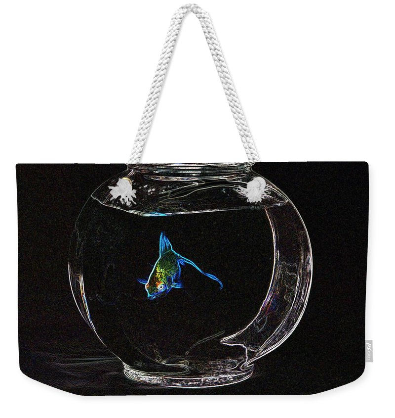 Fish Weekender Tote Bag featuring the photograph Fishbowl by Tim Allen
