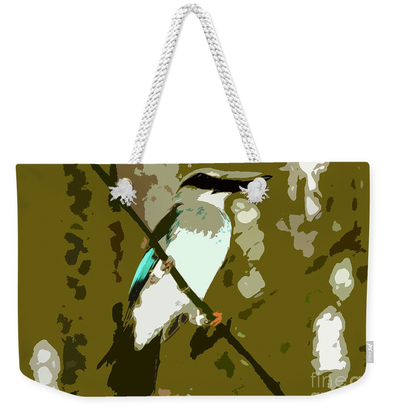 Fisher King Weekender Tote Bag featuring the photograph Fisher King by David Lee Thompson