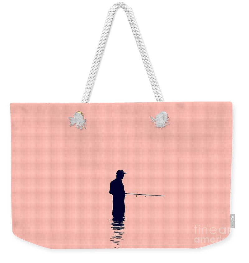 Fishing Weekender Tote Bag featuring the photograph Fisherman by David Lee Thompson