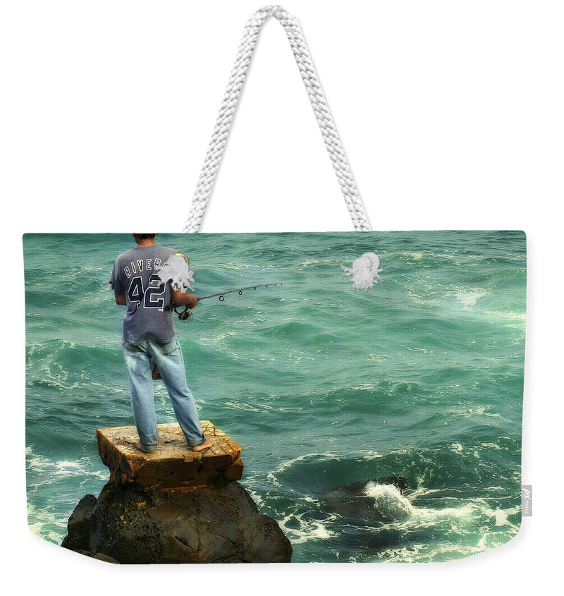 Americana Weekender Tote Bag featuring the photograph Fisherman by Marilyn Hunt