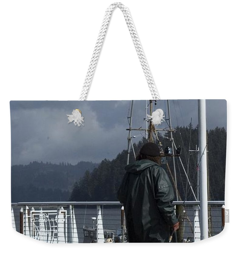 Dock Weekender Tote Bag featuring the photograph Fisherman by Sara Stevenson
