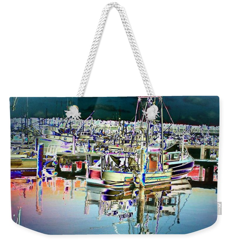 Seattle Weekender Tote Bag featuring the photograph Fishermans Terminal 3 by Tim Allen
