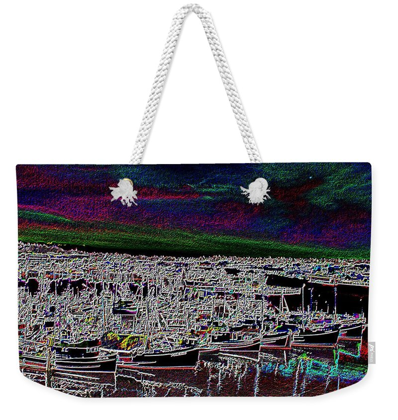 Seattle Weekender Tote Bag featuring the photograph Fishermans Terminal 4 by Tim Allen