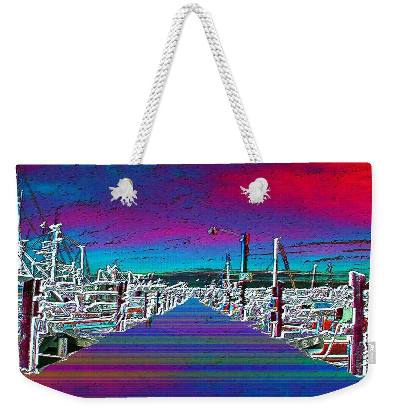 Seattle Weekender Tote Bag featuring the photograph Fishermans Terminal Pier by Tim Allen