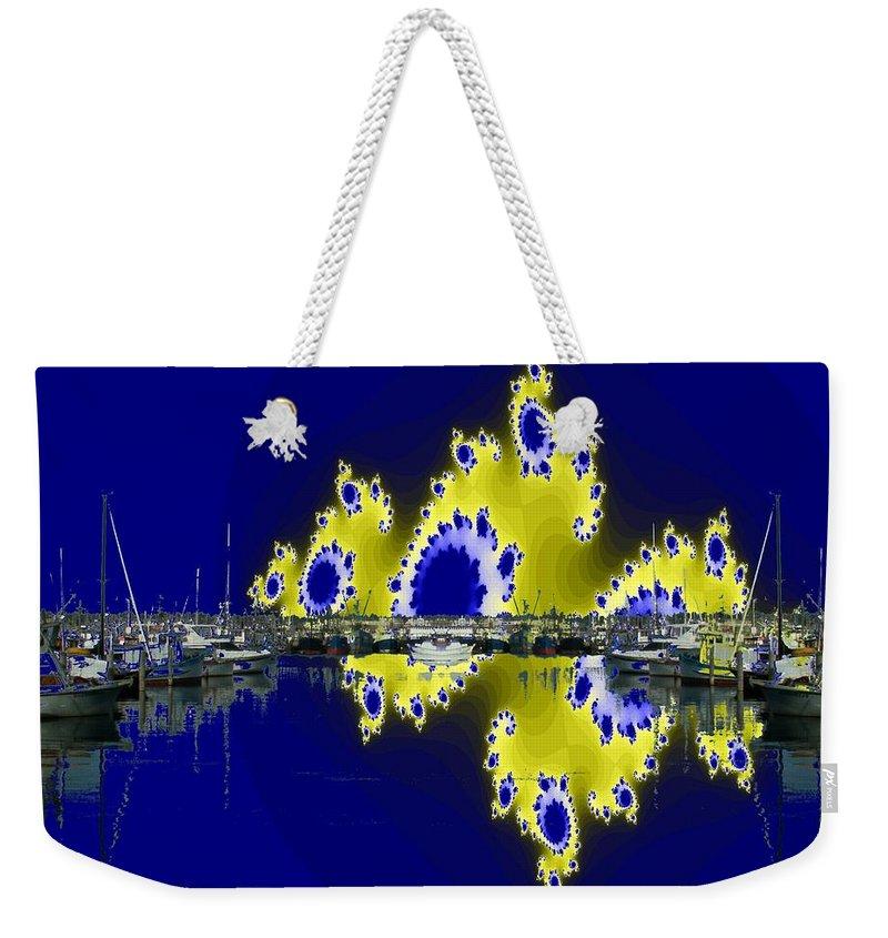 Seattle Weekender Tote Bag featuring the digital art Fishermans Terminal by Tim Allen