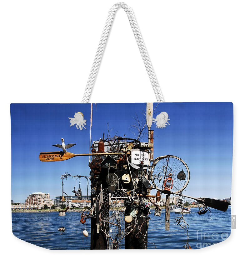 Fisherman Weekender Tote Bag featuring the photograph Fisherman's Wharf by David Lee Thompson