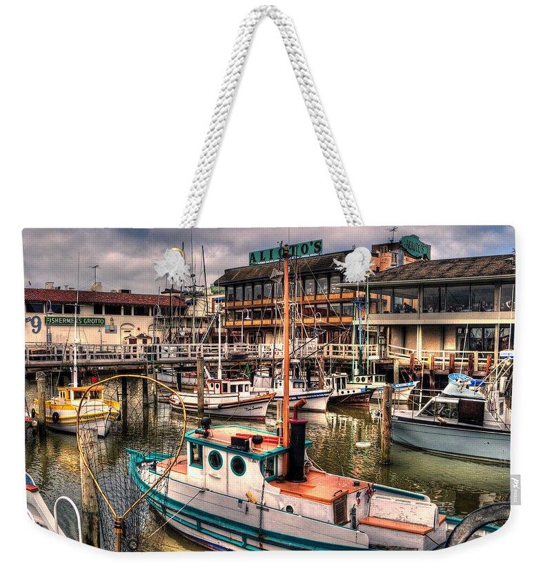 San Francisco Weekender Tote Bag featuring the photograph Fisherman's Wharf by Lee Santa