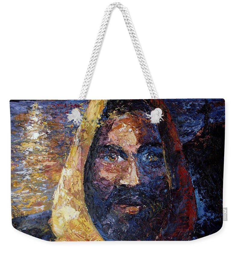 Jesus Weekender Tote Bag featuring the painting Fishers Of Men by Lewis Bowman