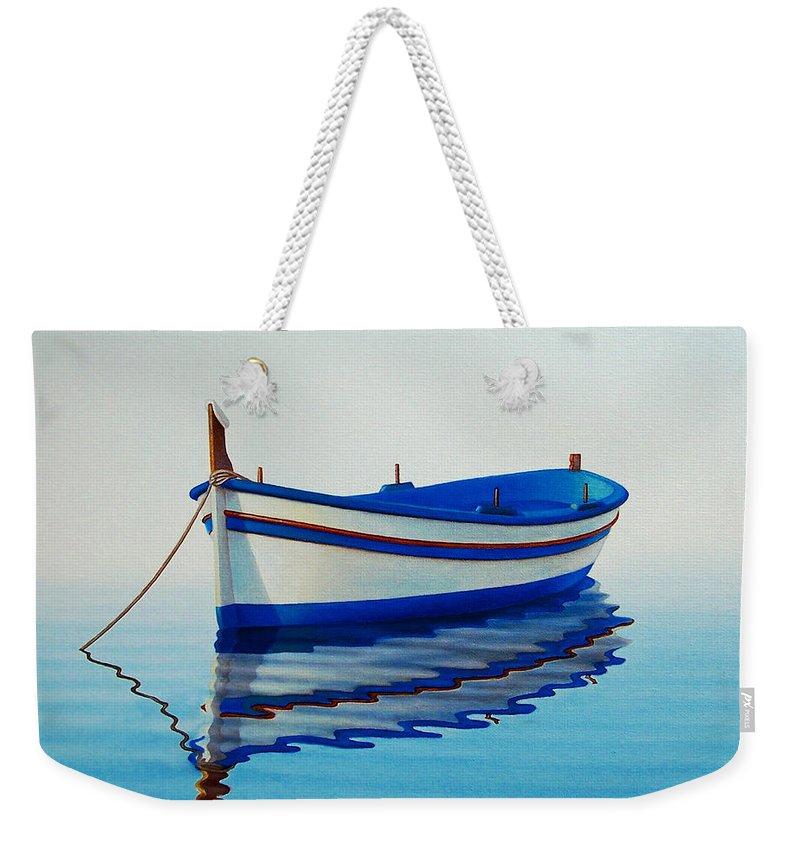 Boat Weekender Tote Bags