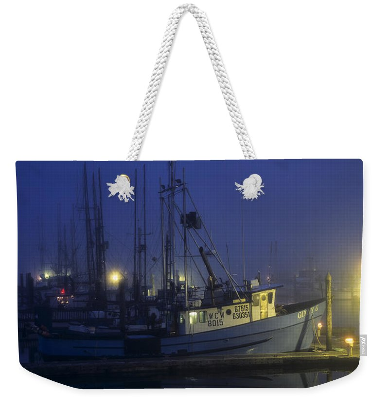 Boats Weekender Tote Bag featuring the photograph Fishing Boats At Dawn by Robert Potts