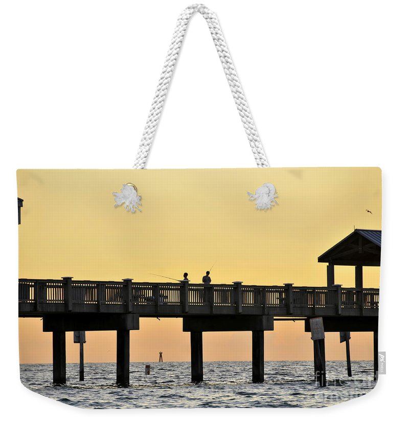 Fishing Weekender Tote Bag featuring the photograph Fishing Friends by David Lee Thompson