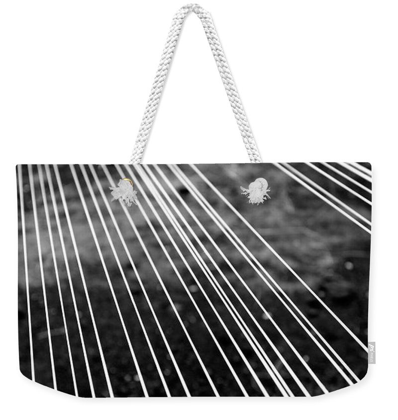 Abstract Weekender Tote Bag featuring the photograph Fishing Lines by Gaspar Avila