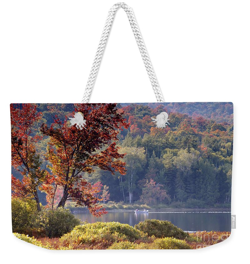 Adirondack Mountains Weekender Tote Bag featuring the photograph Fishing The Adirondacks by David Lee Thompson