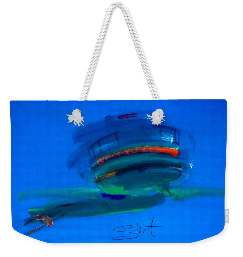 Hastings Weekender Tote Bag featuring the painting Fishing Trawler Hastings Stade by Charles Stuart