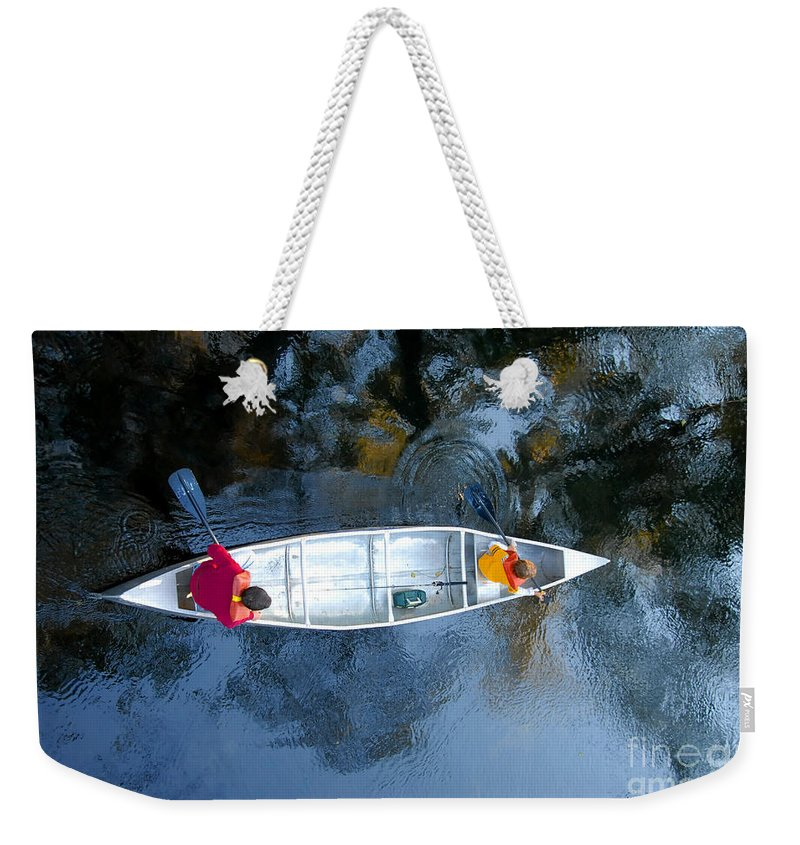 Father Weekender Tote Bag featuring the photograph Fishing Trip by David Lee Thompson
