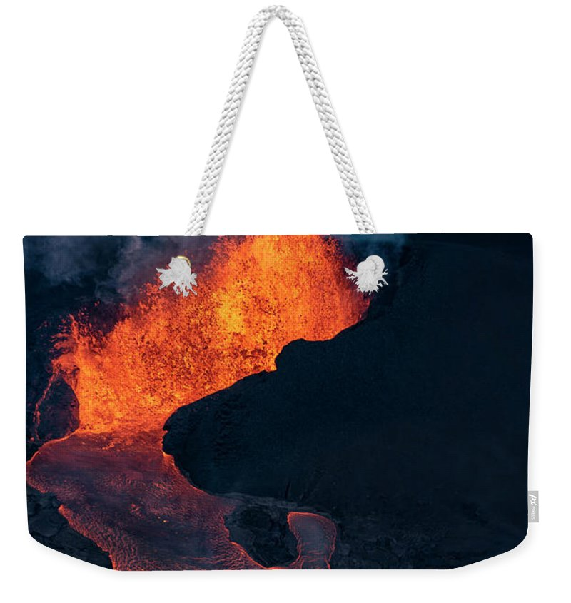 Fissure 8 Weekender Tote Bag featuring the photograph Fissure 8 by Christopher Johnson
