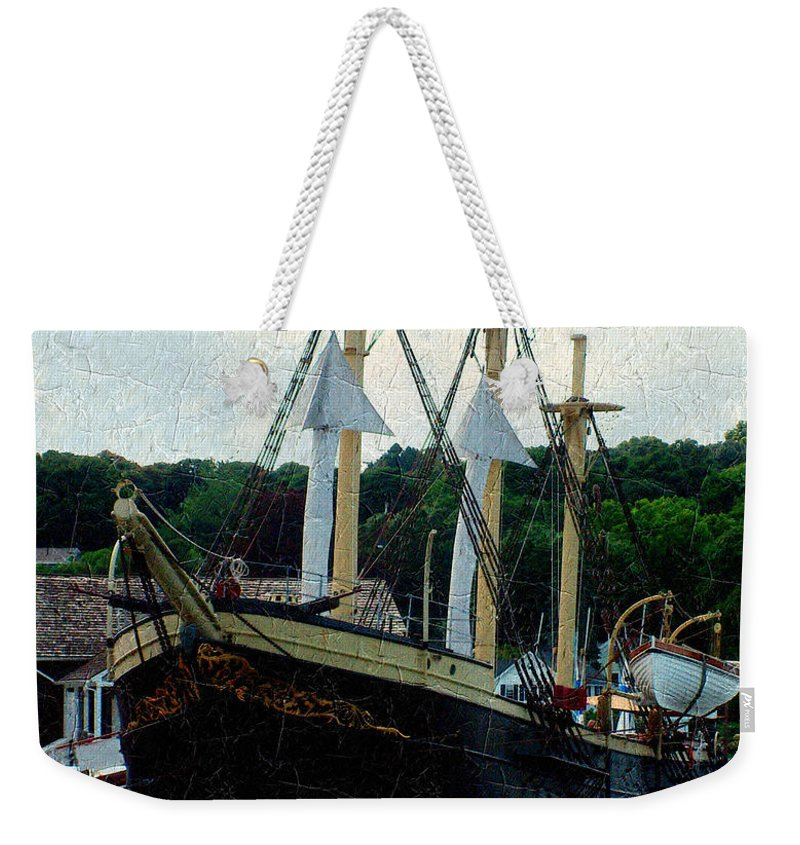 Antique Weekender Tote Bag featuring the painting Fit And Trim by RC DeWinter