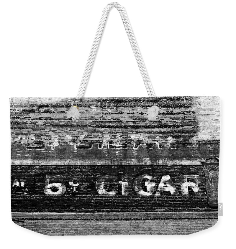 Cigar Weekender Tote Bag featuring the photograph Five Cent Cigar by David Lee Thompson