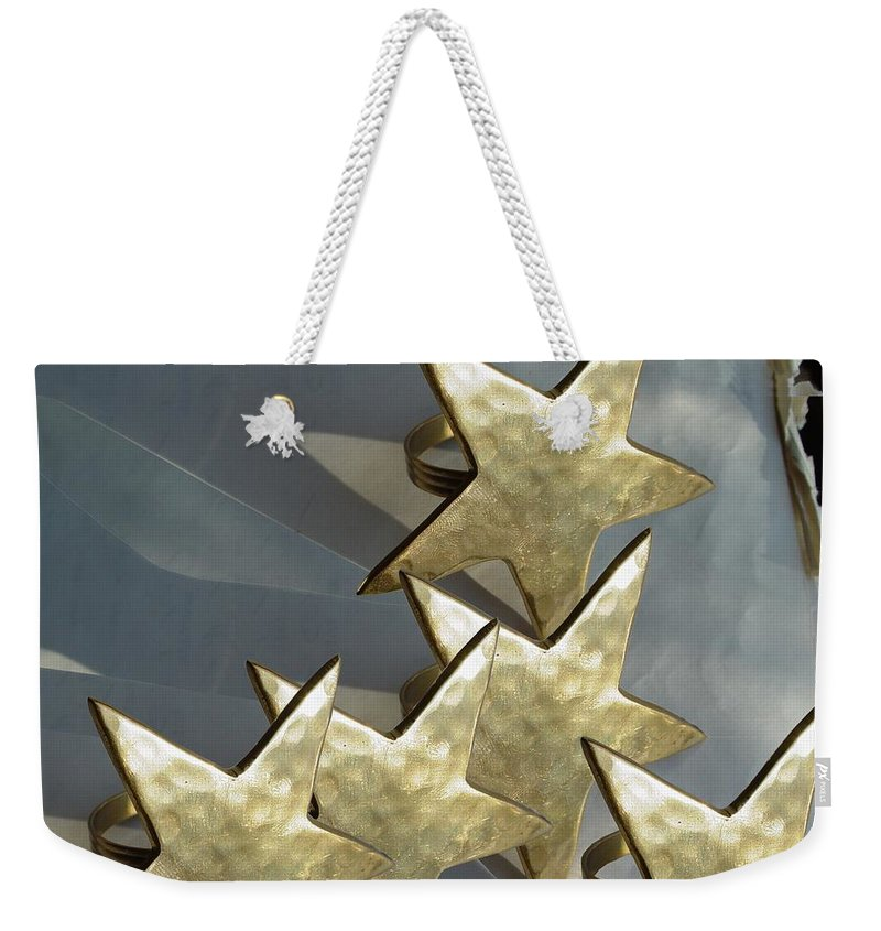 Stars Weekender Tote Bag featuring the photograph Five by Ron Bissett