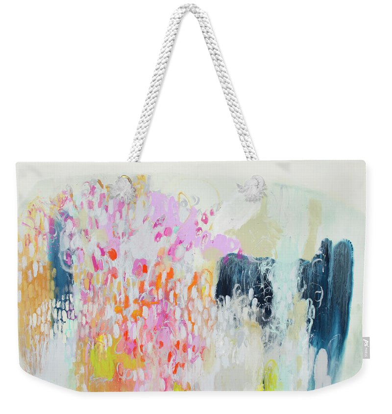 Abstract Weekender Tote Bag featuring the painting Fizz by Claire Desjardins