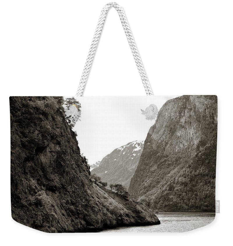 Norway Weekender Tote Bag featuring the photograph Fjord Beauty by Dave Bowman