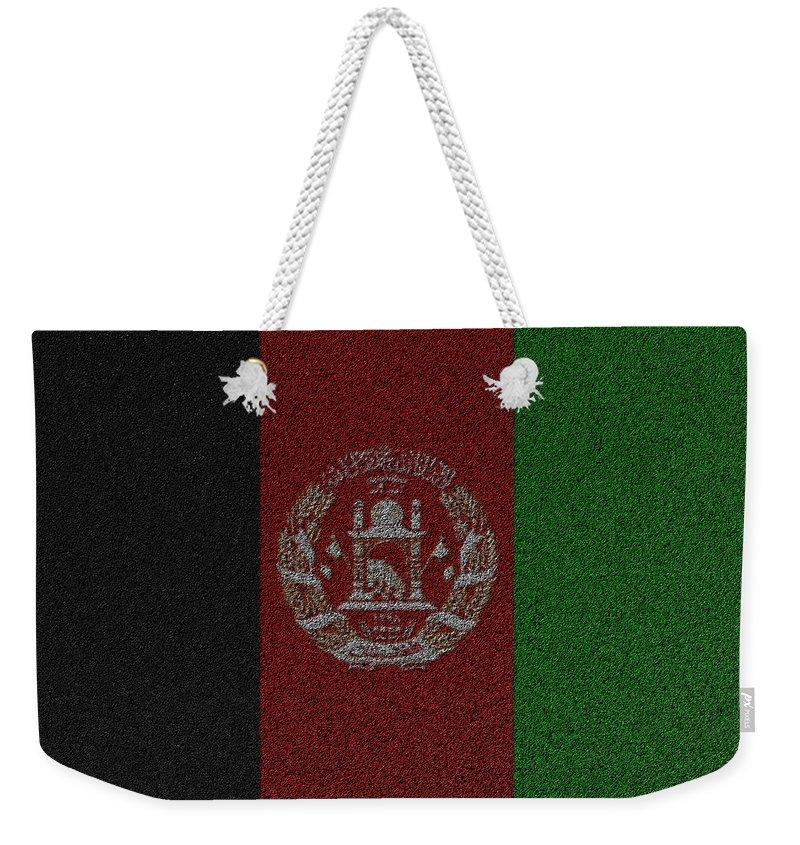 Afghanistan Weekender Tote Bag featuring the digital art Flag Of Afghanistan by Jeff Iverson