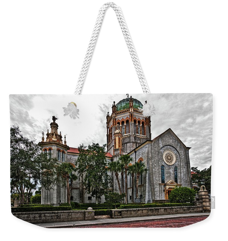 Church Weekender Tote Bag featuring the photograph Flagler Memorial Presbyterian Church 2 by Christopher Holmes