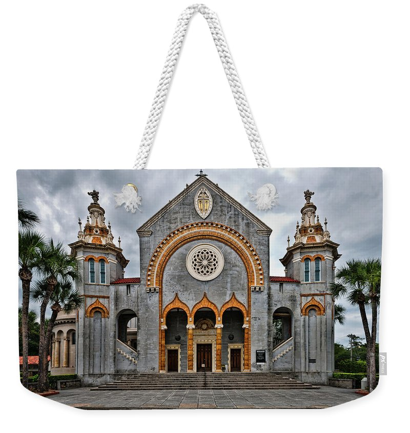 Church Weekender Tote Bag featuring the photograph Flagler Memorial Presbyterian Church by Christopher Holmes