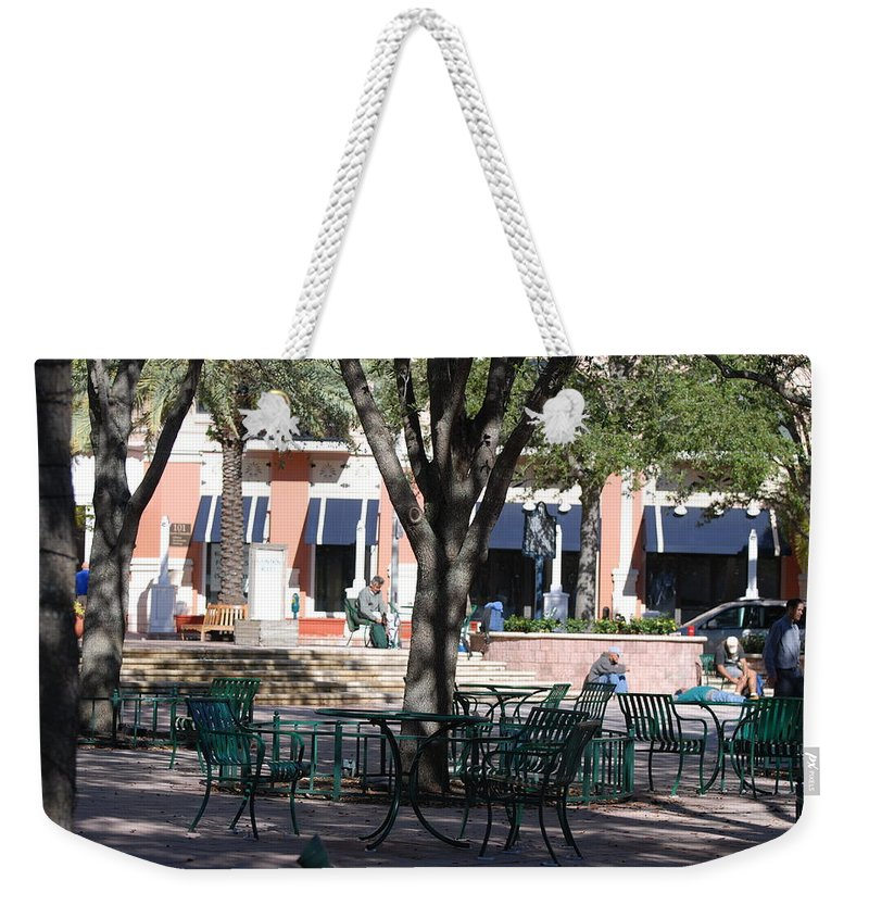 Park Weekender Tote Bag featuring the photograph Flagler Park by Rob Hans