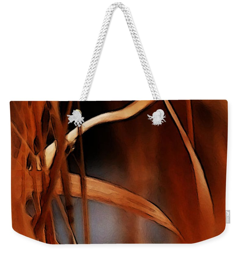 Flame Weekender Tote Bag featuring the photograph Flame by Linda Shafer