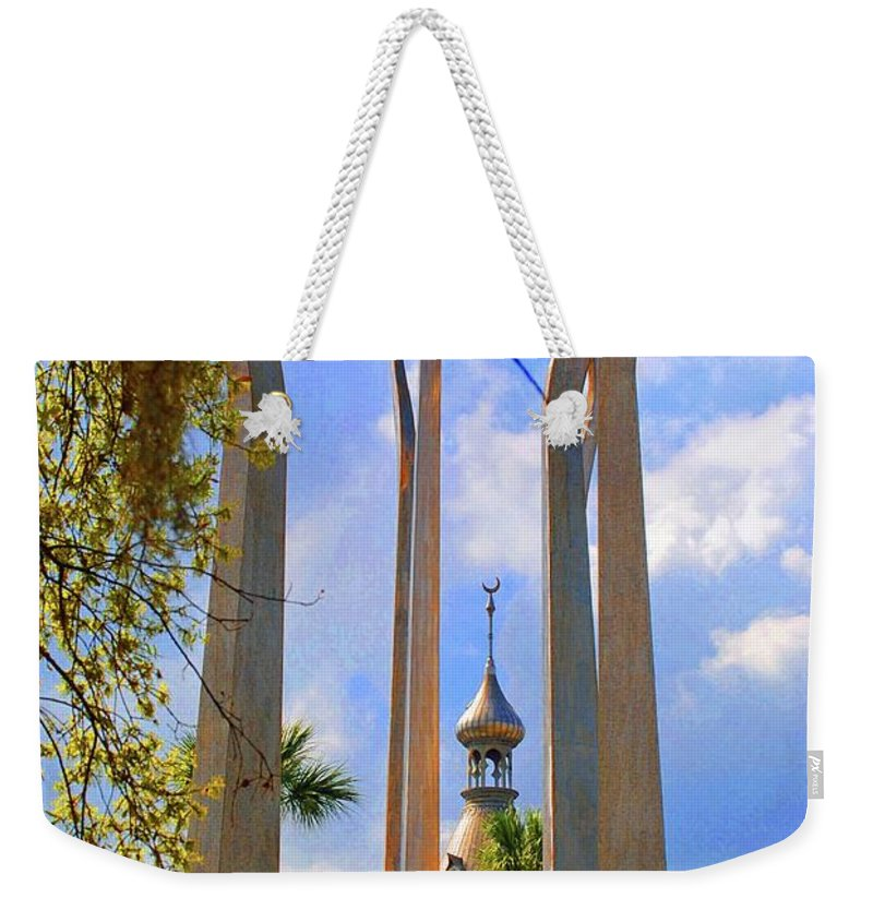 University Of Tampa Weekender Tote Bag featuring the photograph flame of the Sky by Jost Houk