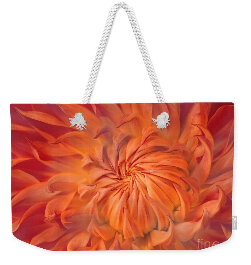 Flower Weekender Tote Bag featuring the photograph Flame by Jacky Gerritsen