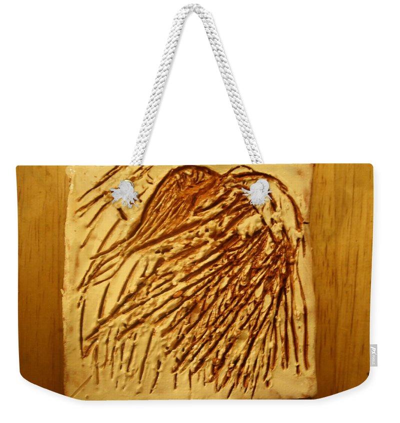 Jesus Weekender Tote Bag featuring the ceramic art Flamenco - Tile by Gloria Ssali
