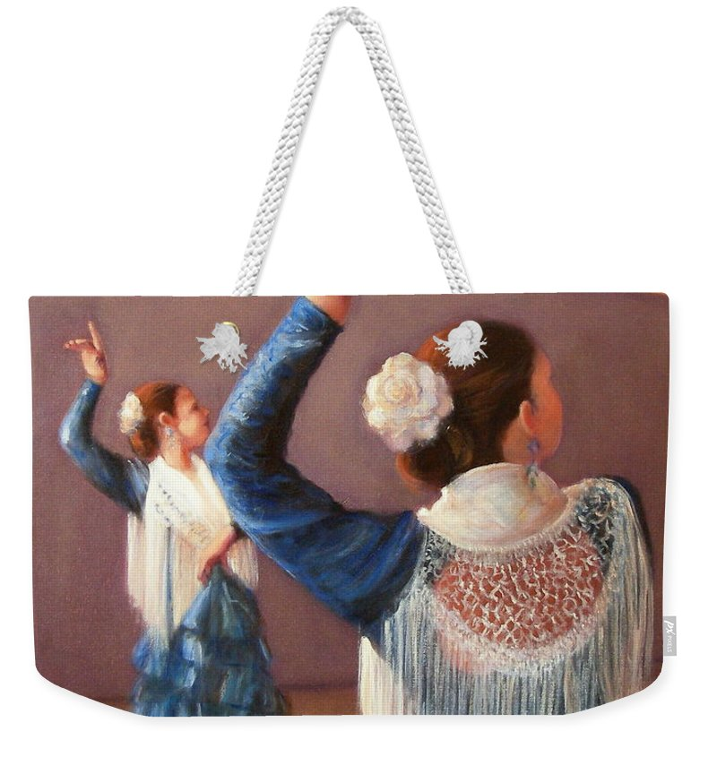Realism Weekender Tote Bag featuring the painting Flamenco 7 by Donelli DiMaria