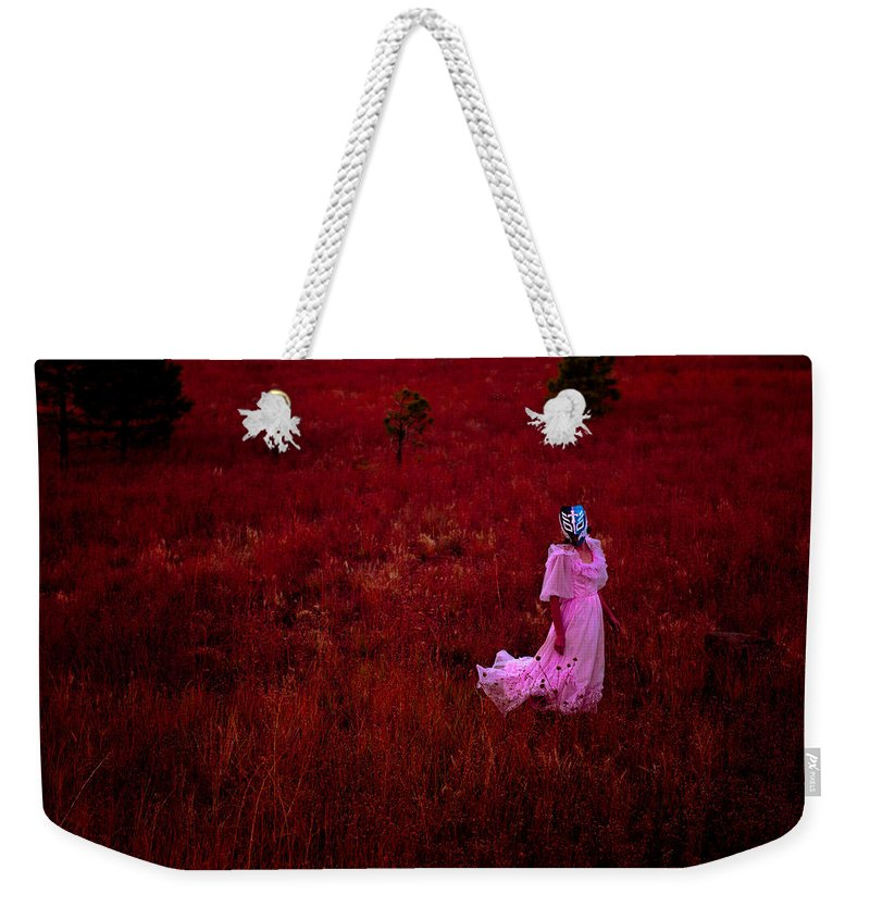 Pink Dress Weekender Tote Bag featuring the photograph Flaming Pink by Scott Sawyer
