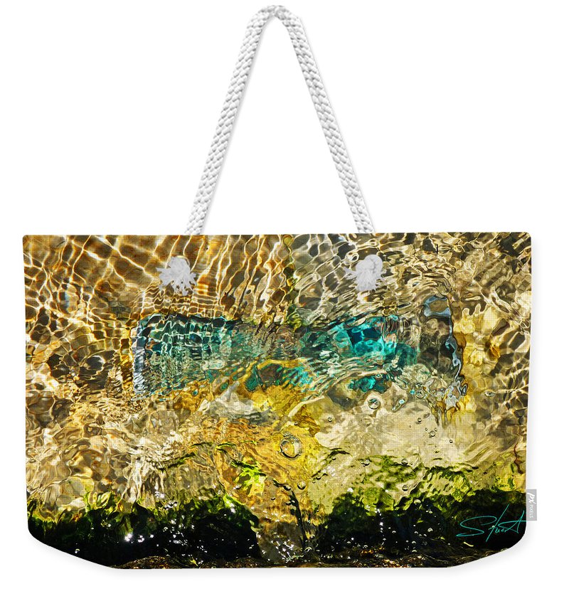 Emerald Ocean Weekender Tote Bag featuring the photograph Flash Of Emerald by Charles Stuart