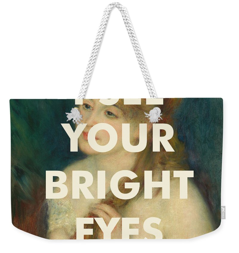 Art & Collectibles Weekender Tote Bag featuring the digital art Fleetwood Mac Lyrics Print by Georgia Fowler